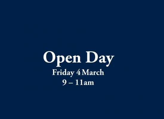 Open Day Friday 4th March 9-11am