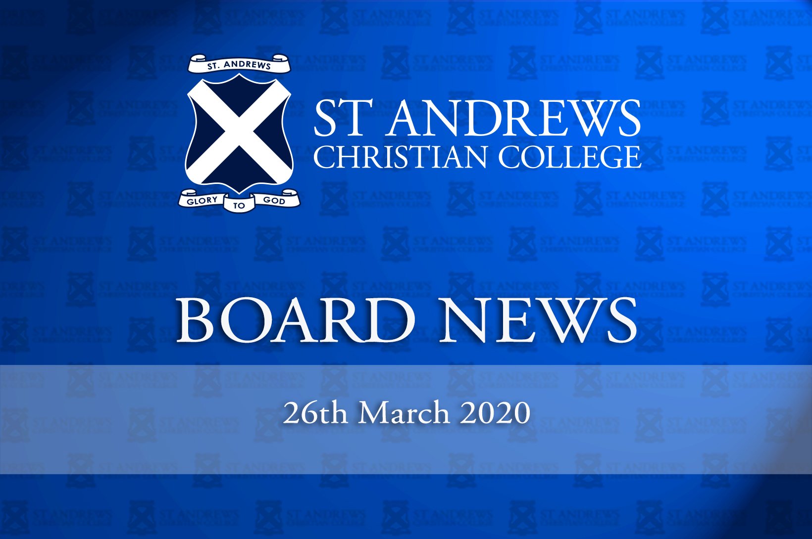 Board News – March 2020