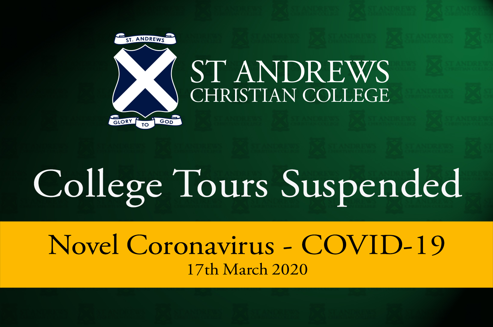 College Tours Suspended