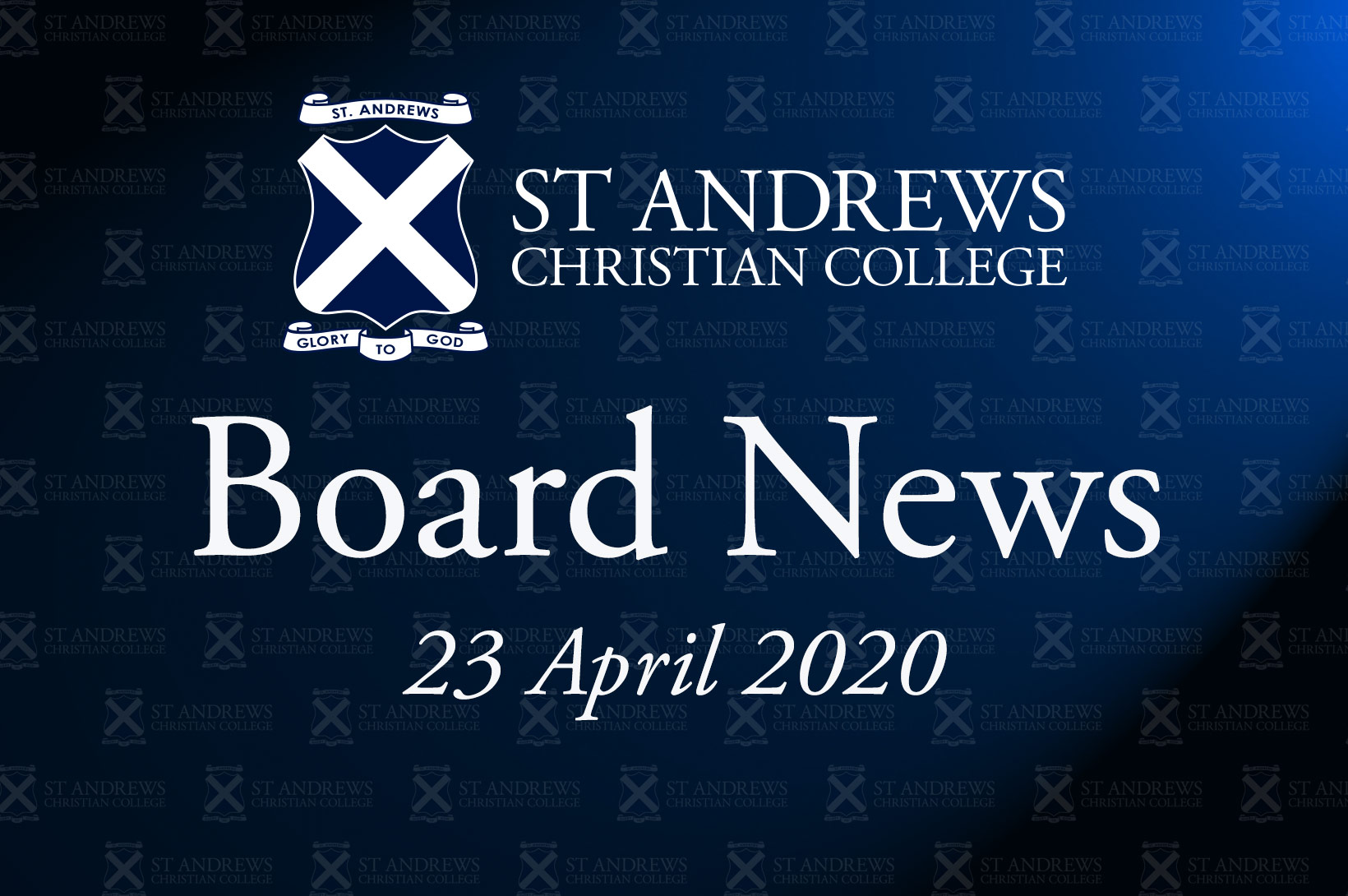 Board News – April 2020