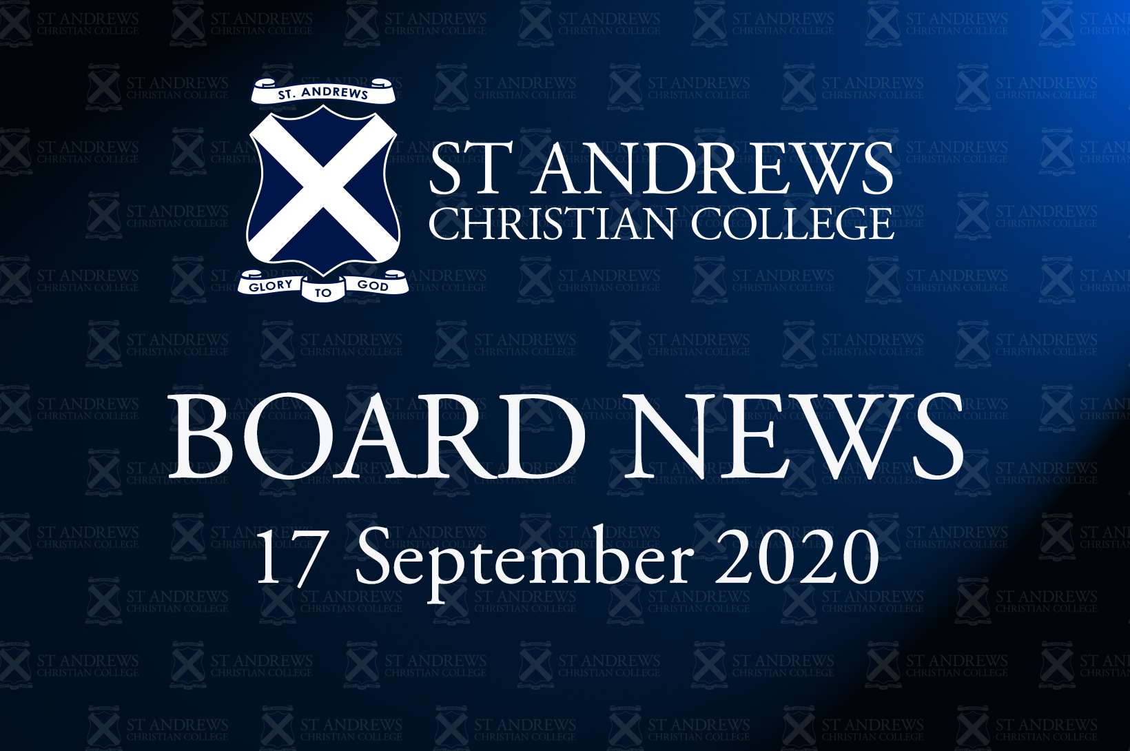 Board News – September 2020