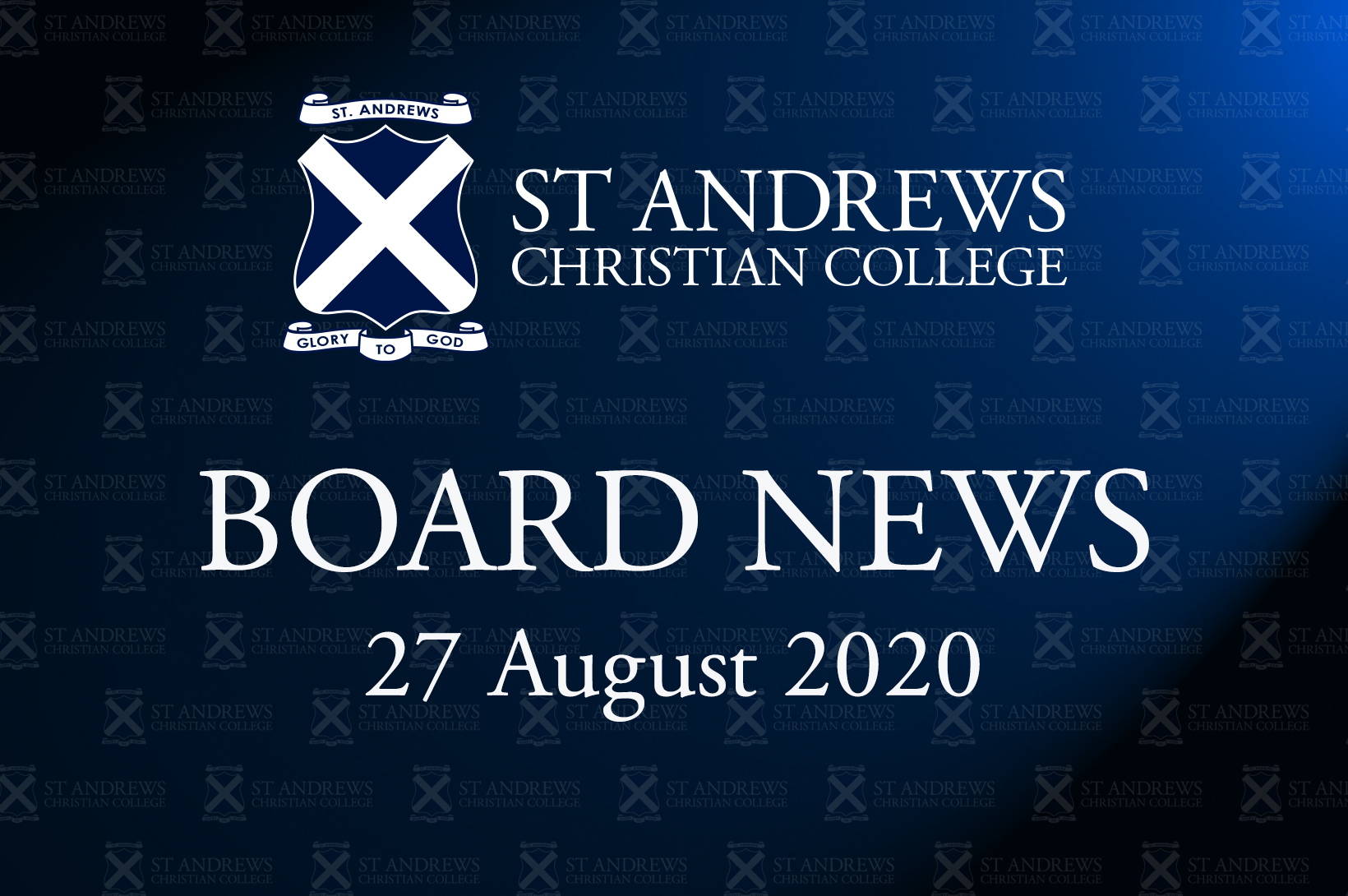 Board News – August 2020